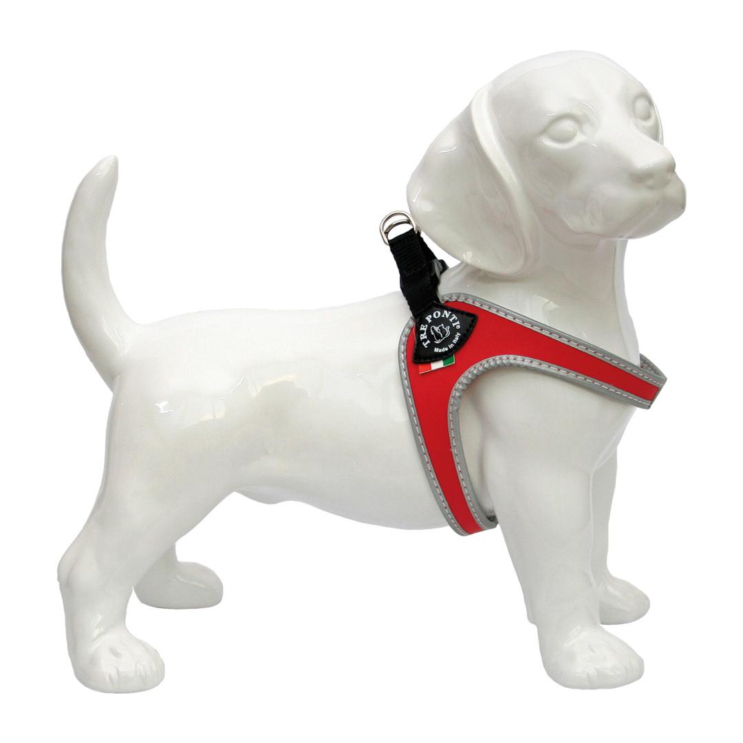 Tre Ponti hondentuig Fibbia Reflective rood