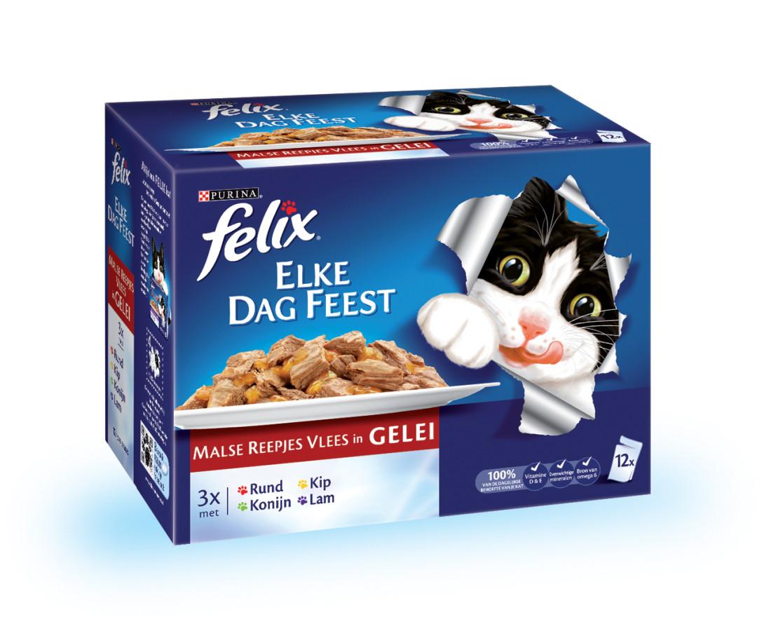 Felix kattenvoer Elke Dag Feest Countryside in Gelei 12 x 100 gr