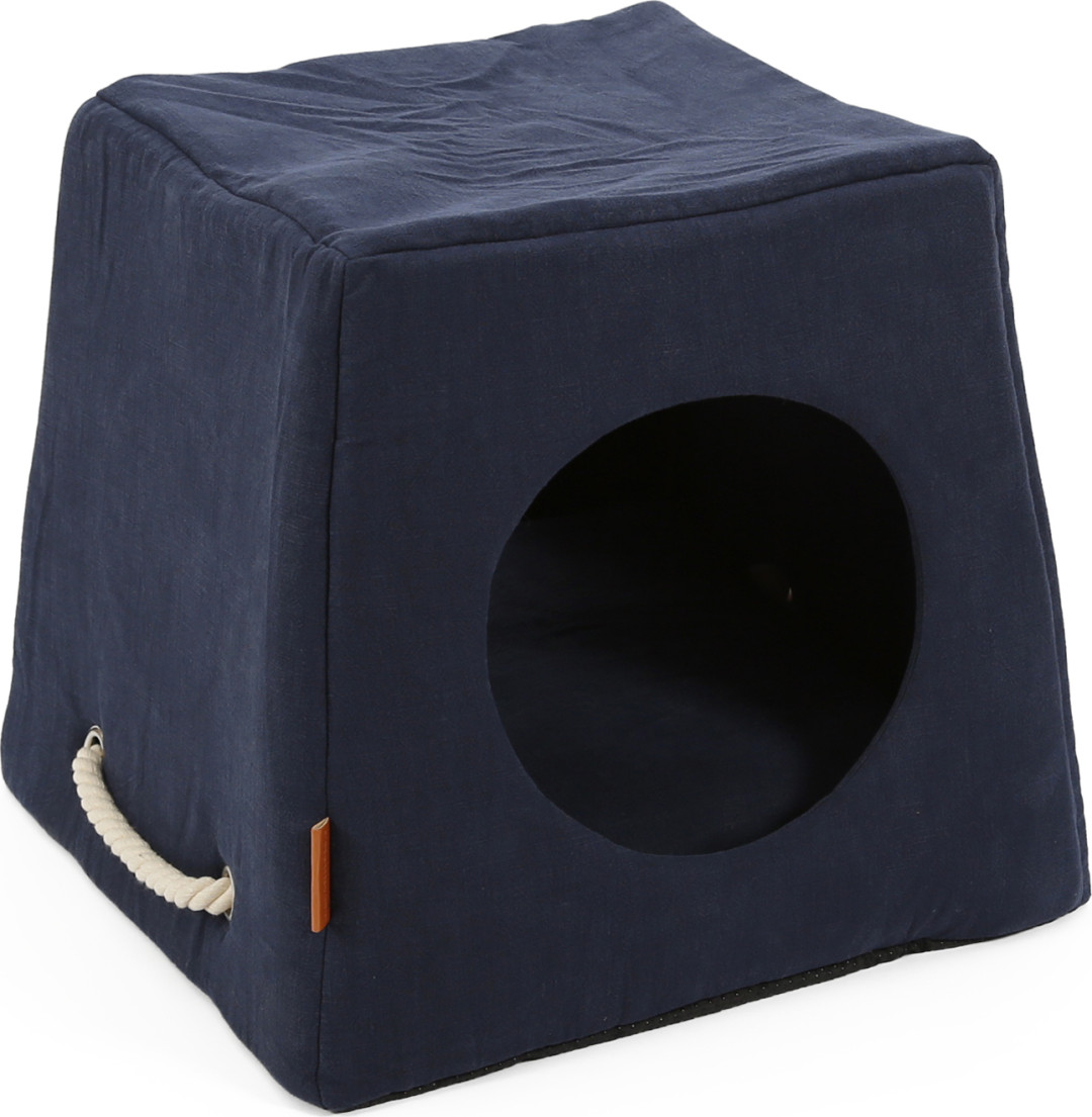 51 Degrees North Nautical kattenhuis dark blue