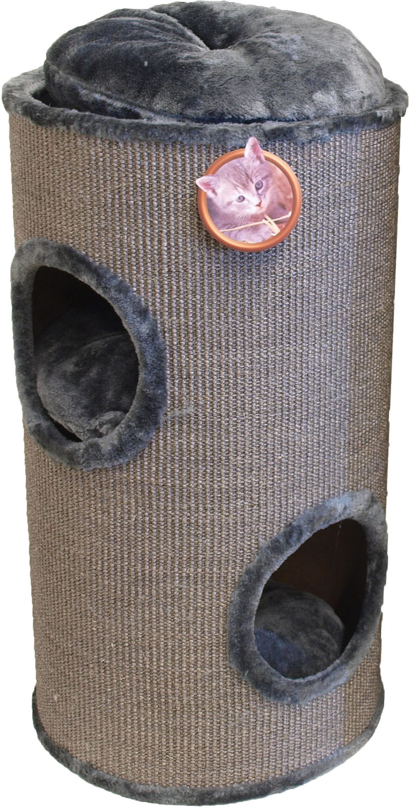Krabton sisal 2-gaats grijs 75 cm
