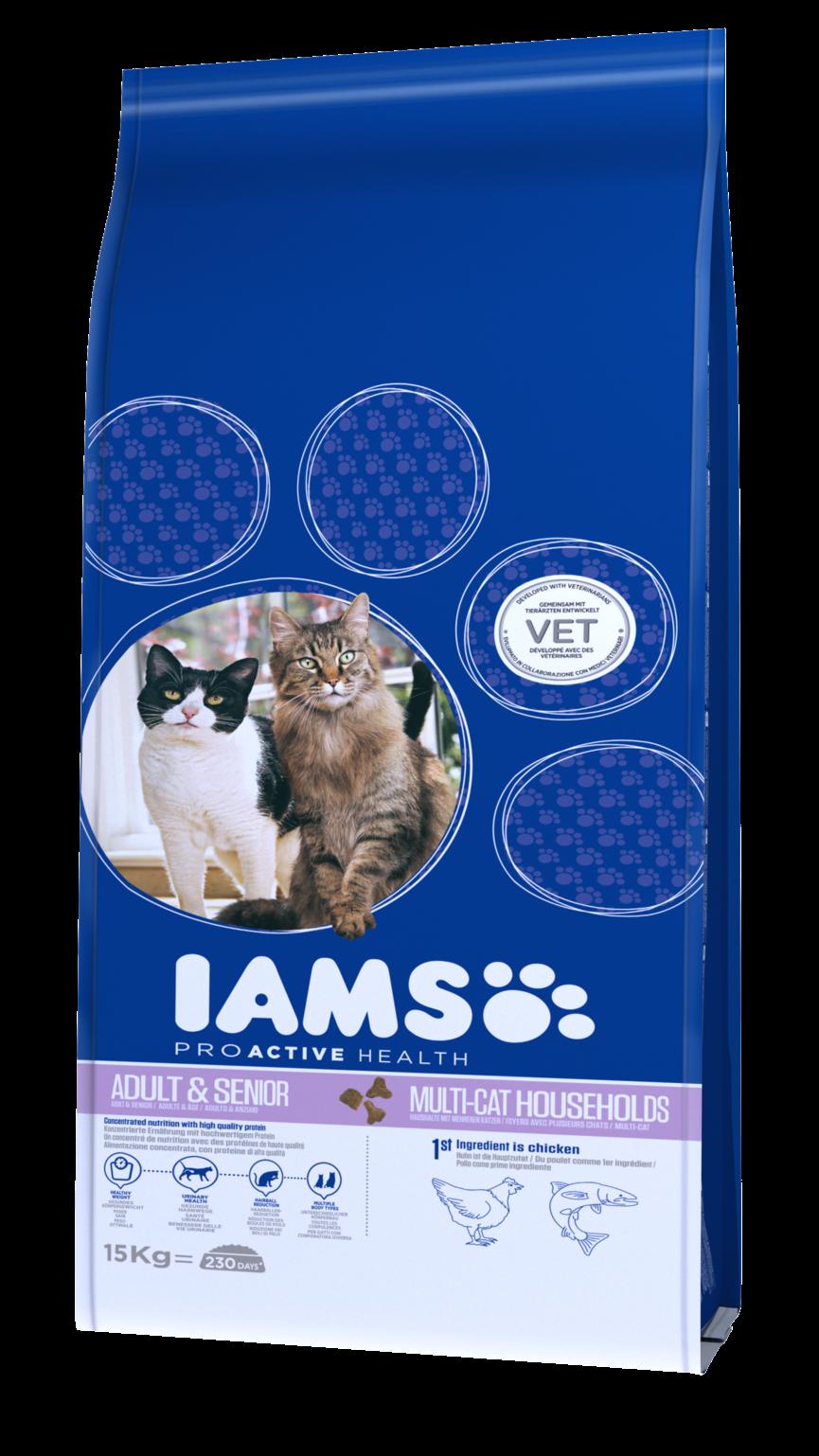 IAMS kattenvoer Adult & Senior Multi-Cat Household 15 kg