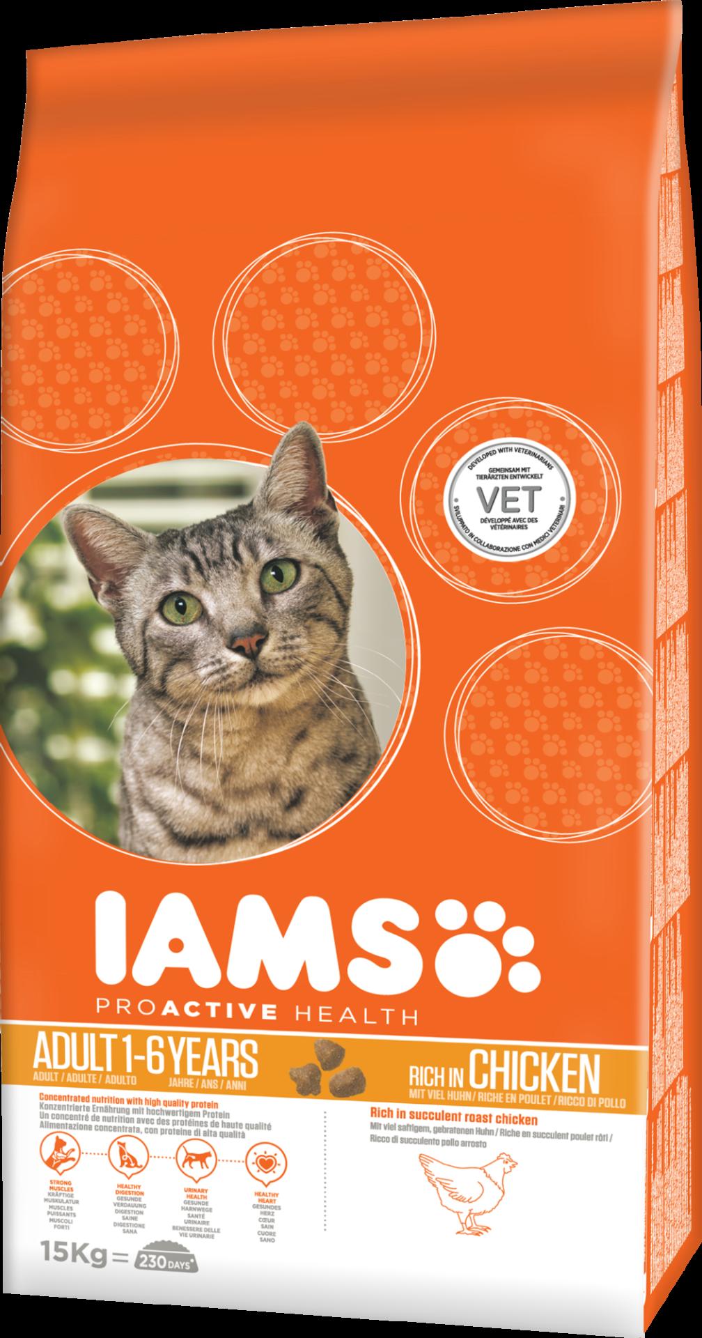 IAMS kattenvoer Adult Chicken 15 kg