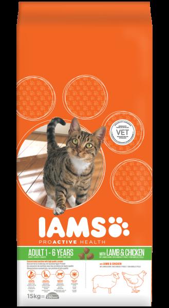 IAMS kattenvoer Adult lamb 15 kg
