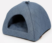 51DN - Denim - Cathouse - 40x40x36cm - Quilted - DenimBlue - 51SDMCH01 - (54200658159920) - Angle.jpg