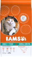 Iams Cat Adult Hairball Control chicken 10 kg thumb