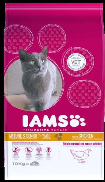 IAMS kattenvoer Mature & Senior Chicken 10 kg