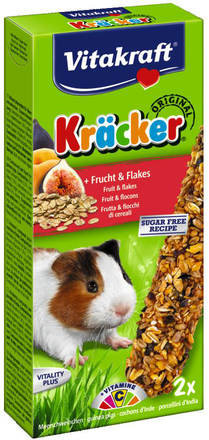 Vitakraft Kräcker Original cavia - fruit en flakes 2 st