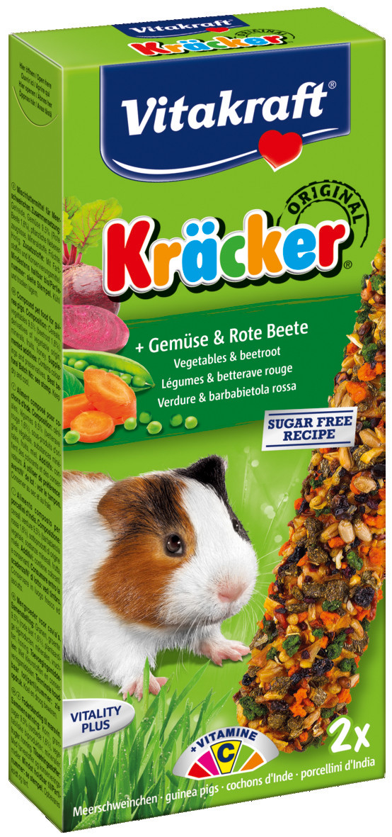 Vitakraft Kräcker Original cavia - groente en bieten 2 st