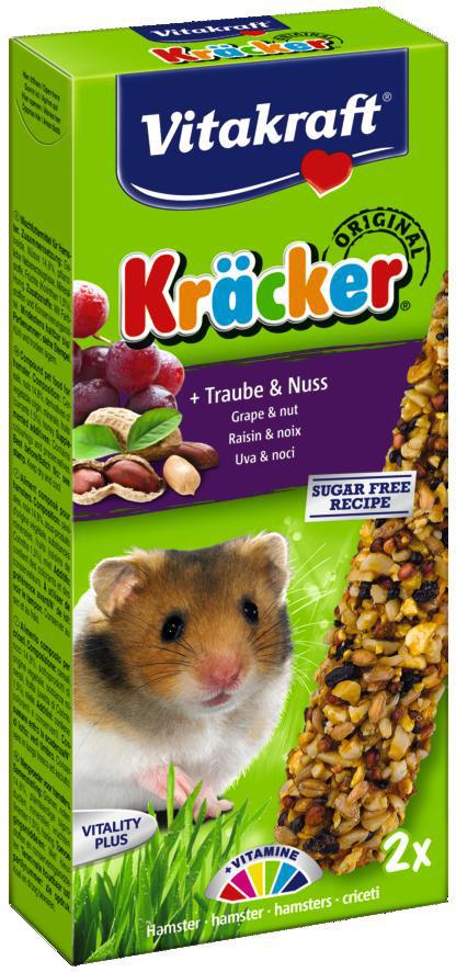 Vitakraft Kräcker Original hamster - druif en noot 2 st