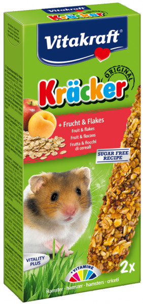 Vitakraft Kräcker Original hamster - fruit en flakes 2 st