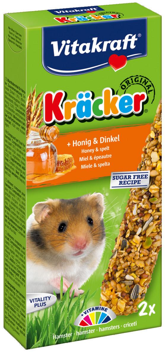 Vitakraft Kräcker Original hamster - honing en spelt 2 st