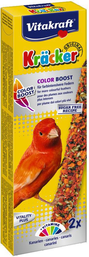 Vitakraft Kräcker Original kanarie - Color Boost 2 st