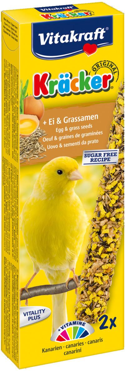 Vitakraft Kräcker Original kanarie - ei en graszaad 2 st