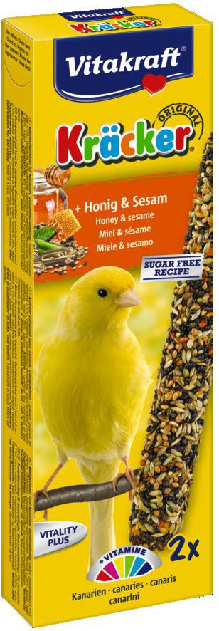 Vitakraft Kräcker Original kanarie - honing en sesam 2 st