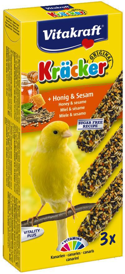 Vitakraft Kräcker Original kanarie - honing en sesam 3 st