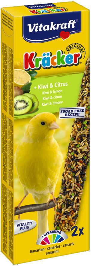 Vitakraft Kräcker Original kanarie - kiwi en citrus 2 st