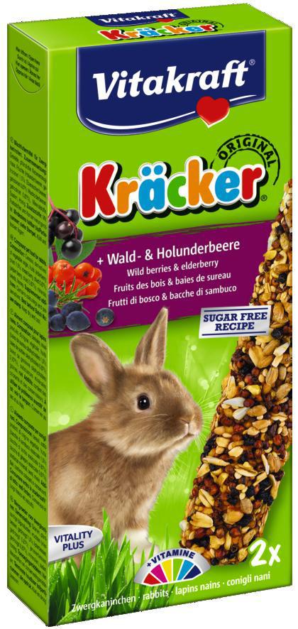 Vitakraft Kräcker Original konijn - bos- en vlierbessen 2 st