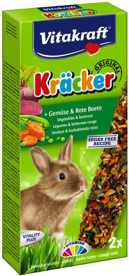 Vitakraft Kräcker Original konijn - groente en bieten 2 st
