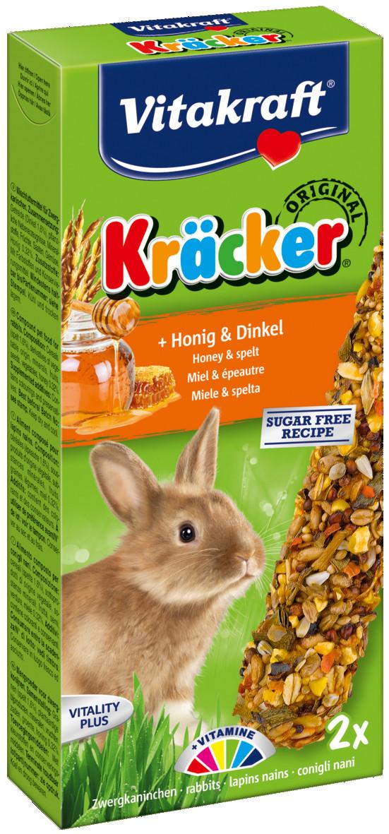 Vitakraft Kräcker Original konijn - honing en spelt 2 st