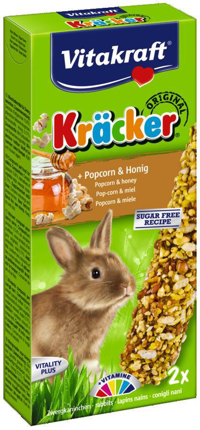 Vitakraft Kräcker Original konijn - popcorn en honing 2 st