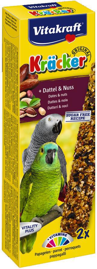 Vitakraft Kräcker Original papegaai - dadel en noot 2 st