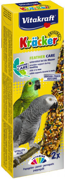 Vitakraft Kräcker Original papegaai - Feather Care 2 st