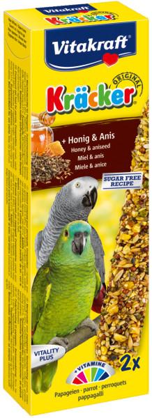 Vitakraft Kräcker Original papegaai - honing en anijs 2 st