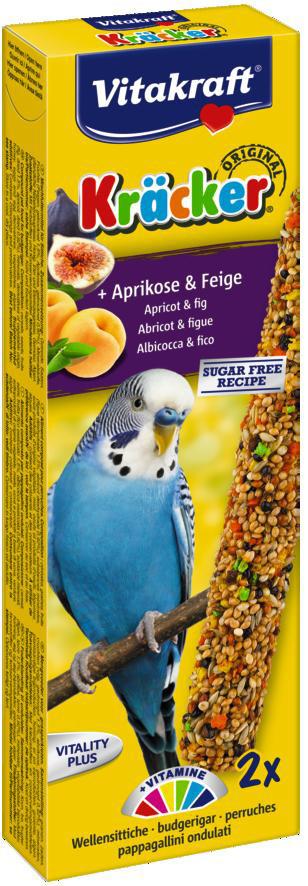 Vitakraft Kräcker Original parkiet - abrikoos en vijg 2 st