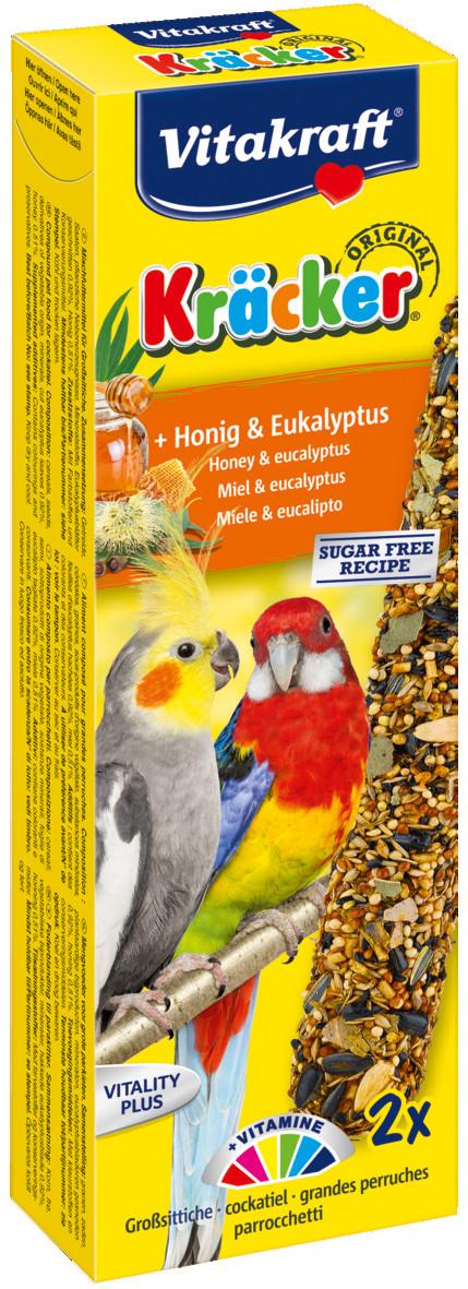 Vitakraft Kräcker Original valkparkiet - honing/eucalyptus 2 st