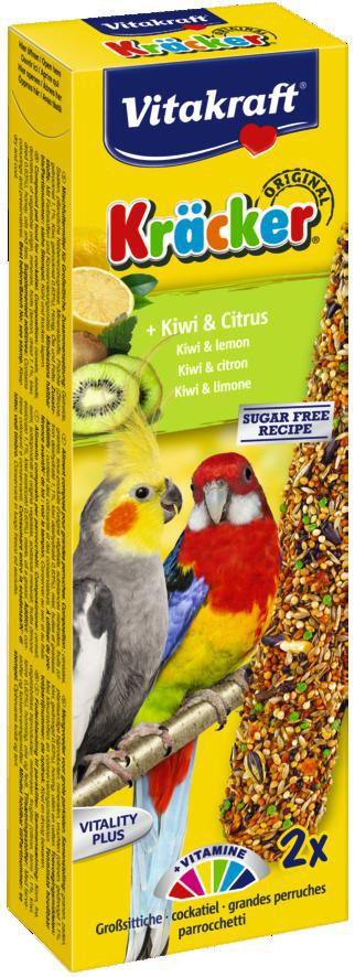 Vitakraft Kräcker Original valkparkiet - kiwi en citrus 2 st