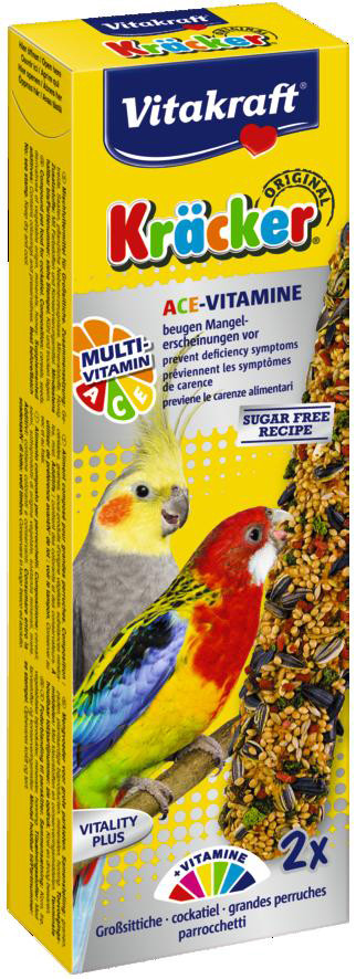 Vitakraft Kräcker Original valkparkiet - Multi Vitamine 2 st