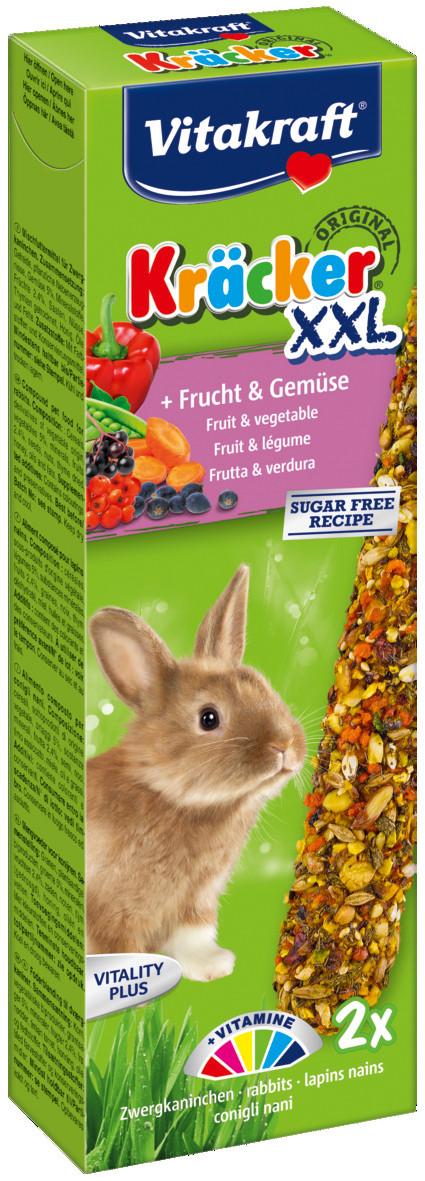 Vitakraft Kräcker Original XXL konijn - fruit en groente 2 st