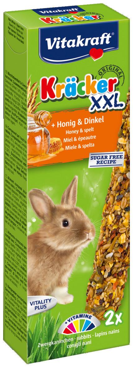 Vitakraft Kräcker Original XXL konijn - honing en spelt 2 st