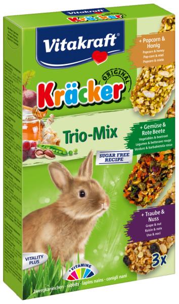Vitakraft Kräcker Trio-Mix konijn - popcorn/ groente/noot 3 st