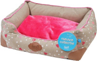 lief! lifestyle Girls divan mand taupe/roze thumb