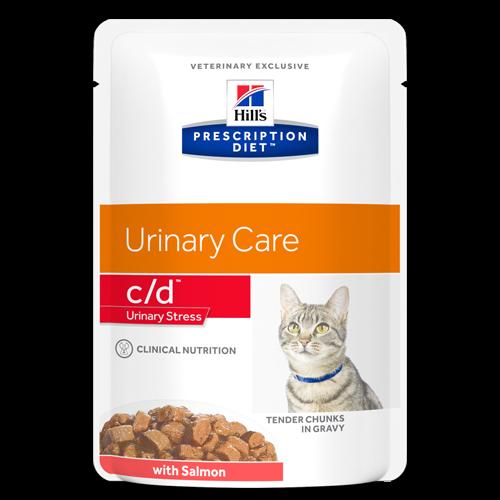 Hill's Prescription Diet c/d Urinary Stress zalm 12 x 85 gr