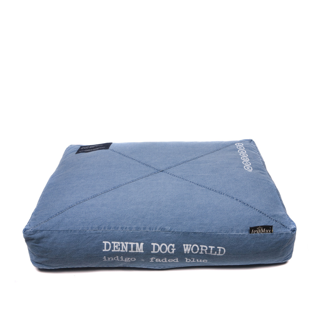 Lex & Max bean bag Denim Dog World faded blue