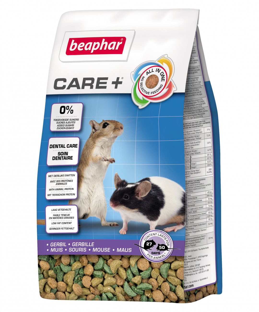 Beaphar Care+ gerbil/muis 250 gr