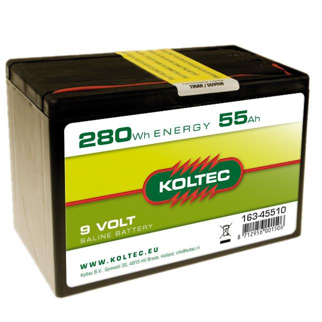 KOLTEC batterij 9Volt - 280Wh 55Ah