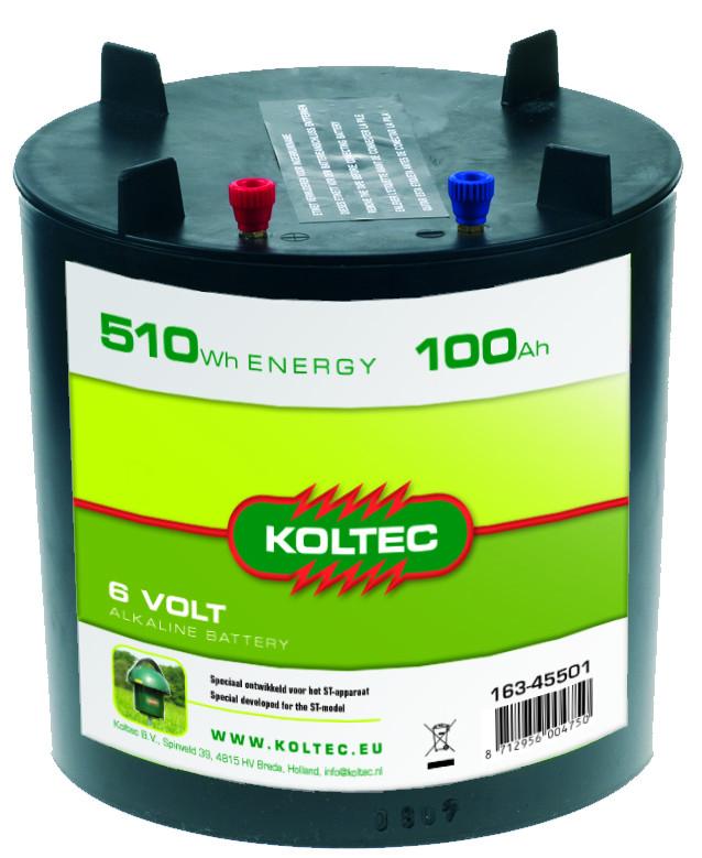 KOLTEC batterij rond 100Ah