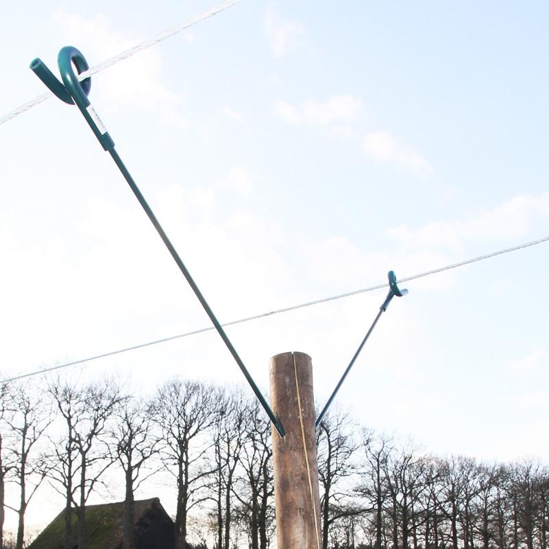 KOLTEC krulstaart afstandisolator groen 60 cm
