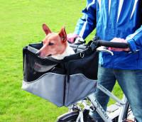 TRIXIE fietsmand <br>41 x 26 x 26 cm <br>zwart/grijs thumb
