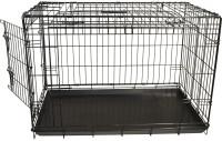 Premium hondenbench met deur en schuifdeur zwart thumb