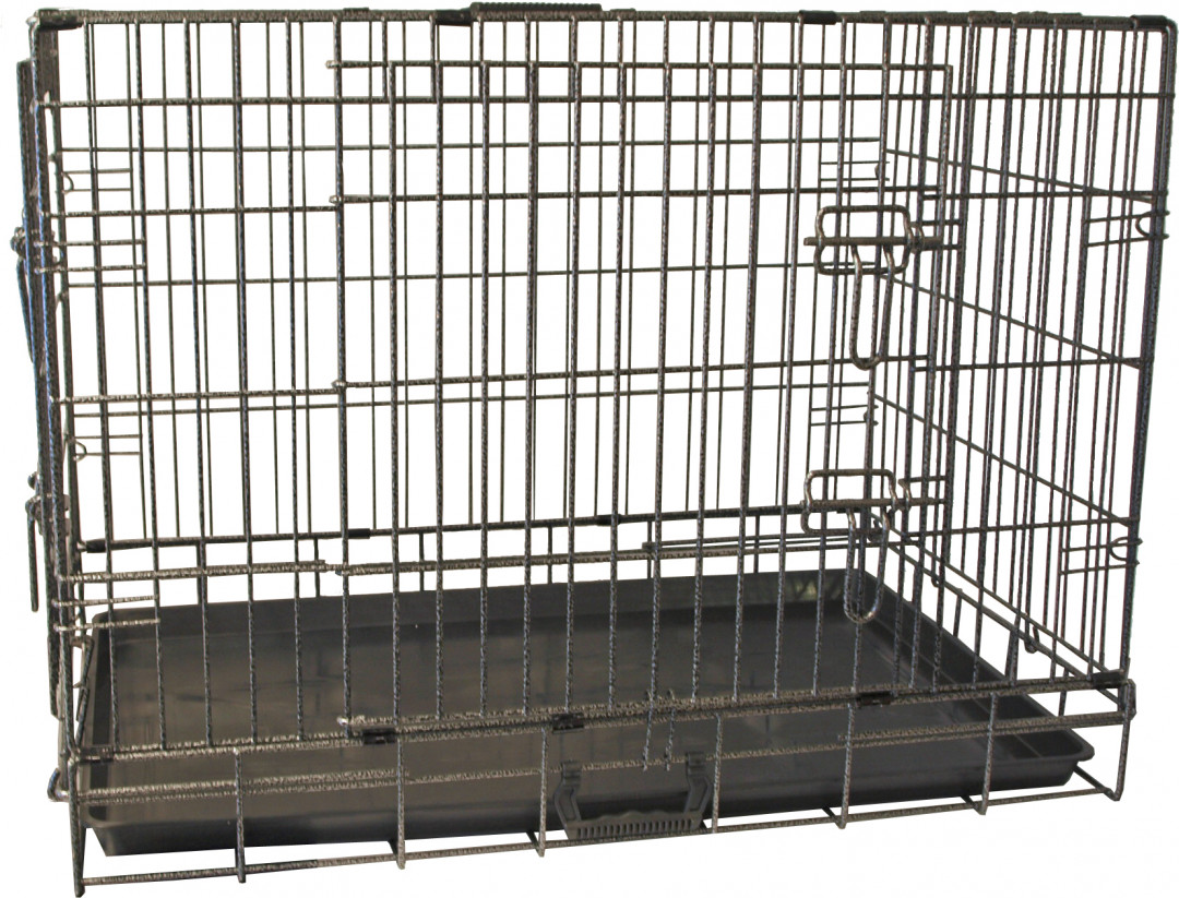 Premium hondenbench 2-deurs hamerslag