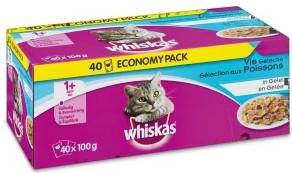 Whiskas kattenvoer Adult Vis in Gelei <br>40 x 100 gr