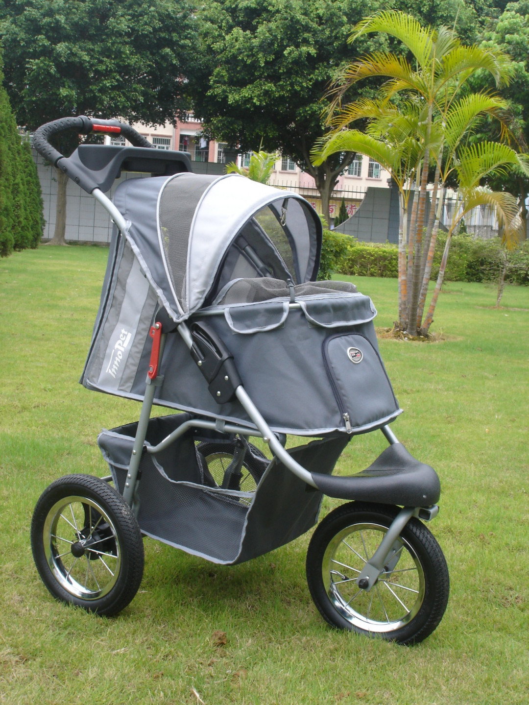 Innopet hondenbuggy Comfort AIR dark grey/light grey