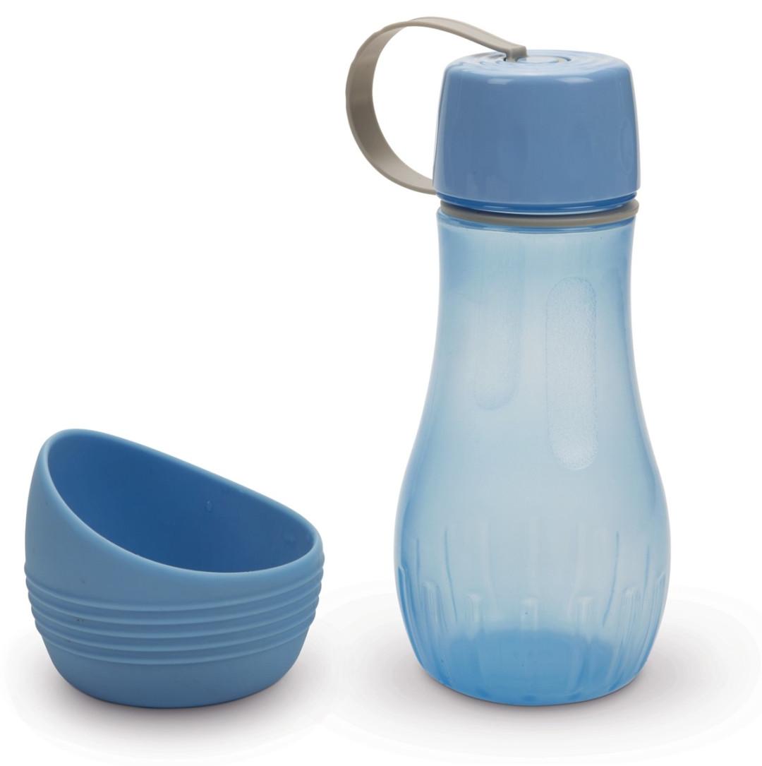 Beeztees draagbare drinkset Aventura blauw 850 ml