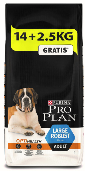 Pro Plan hondenvoer Large Robust Adult kip 14 + 2,5 kg