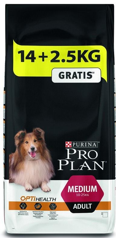 Pro Plan hondenvoer Medium Adult kip <br>14 + 2,5 kg