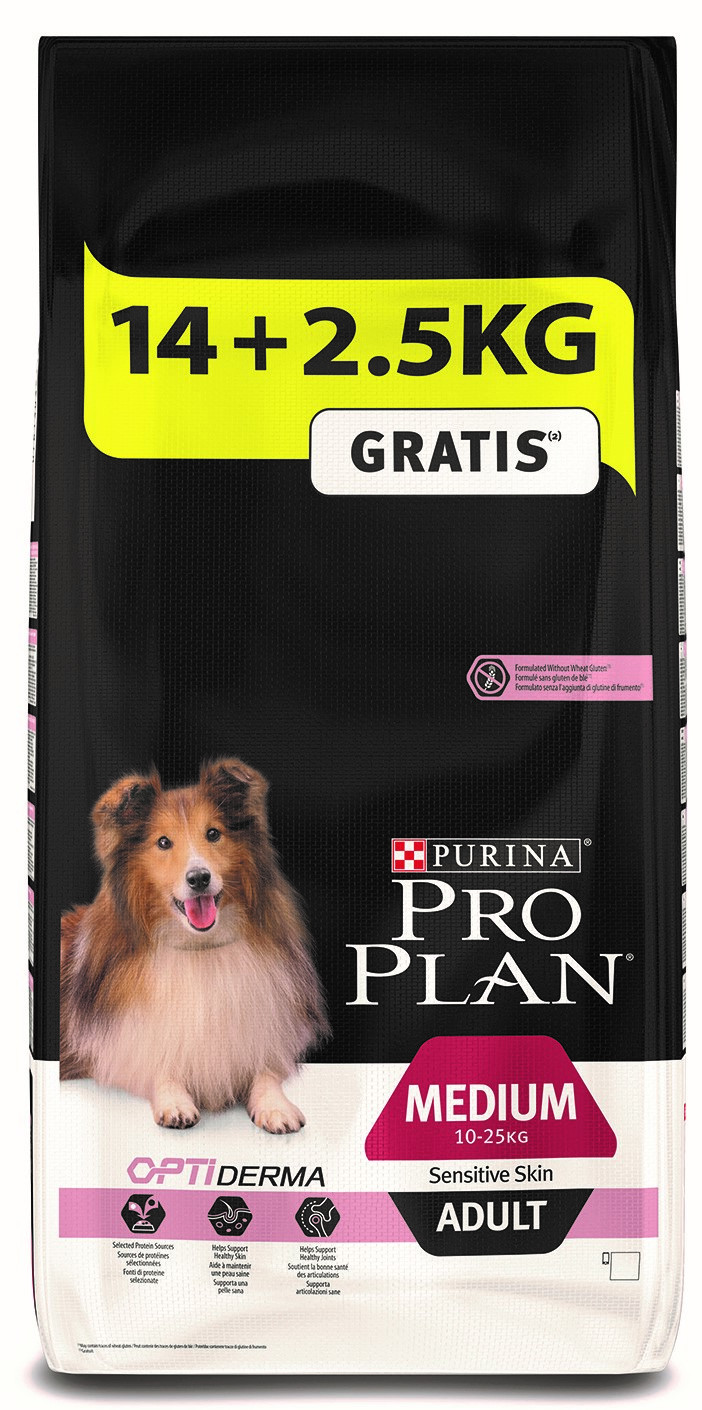 Pro Plan hondenvoer Medium Adult Sensitive Skin 14 + 2,5 kg
